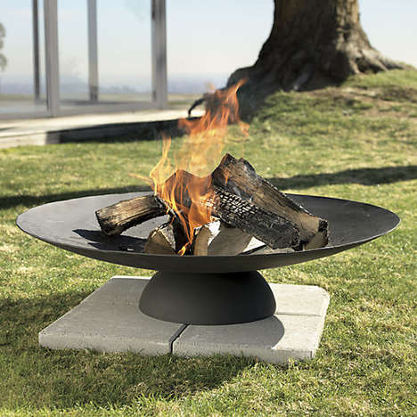 Simplistic Fire Pits - CB2's Circular Iron Burner is Perfect for Modern Patio Spaces