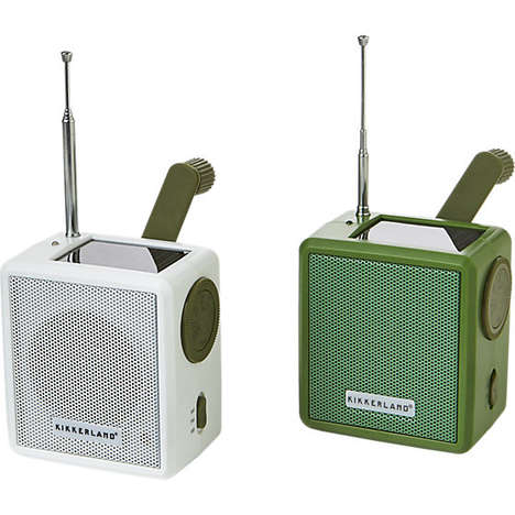 Convenient Solar Radios - CB2's Sun-Powered Audio Accessory is Great for Outdoor Use