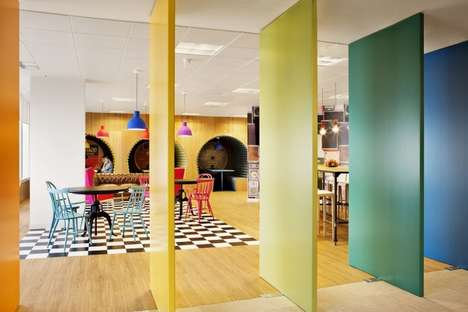 Prismatic Music Offices - The Sony Madrid Offices Are a Rainbow-Colored Creative Haven