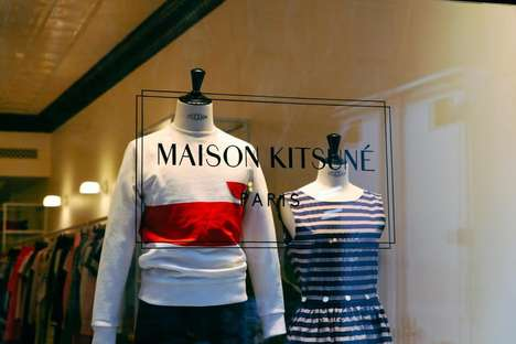 Grungy High-End Boutiques - The New Maison Kitsuné NYC Store Aims to Be Edgy Like Its Location
