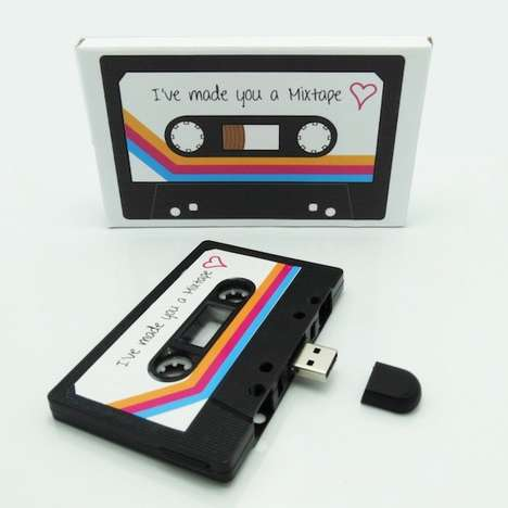 Nostaligic Memory Sticks - USB Mixtapes Lets You Share Songs and Thoughtful Media with Retro Style