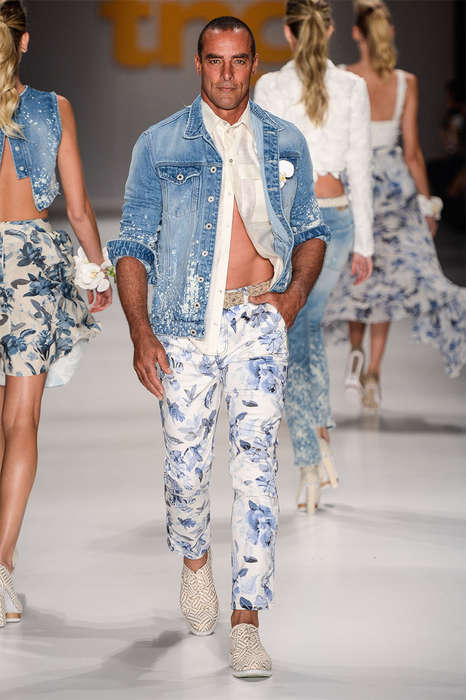 Masculine Floral Resortwear - TNG's Latest Collection Features Elegant and Eye-Catching Menswear