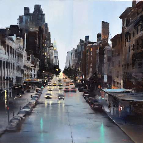 Metropolitan Canvas Art - These City Oil Paintings are Inspired by Urban Photography