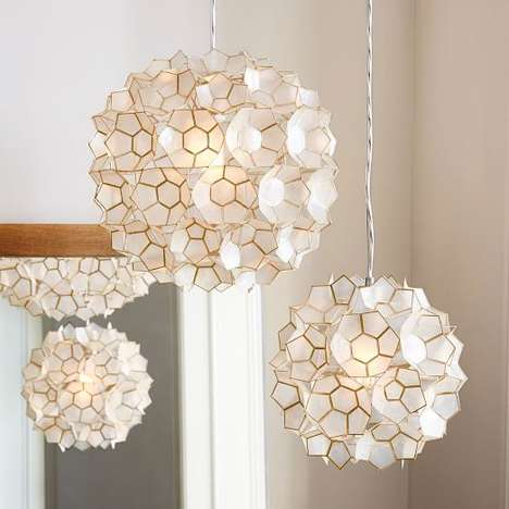 Floral Origami Lighting - West Elm's Flower Pendant Lamp is Sculpturally Shaped