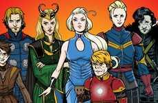 Fantasy Superhero Mashups - Mashable Illustrator Bob Al-Greene Re-Envisions GoT Characters