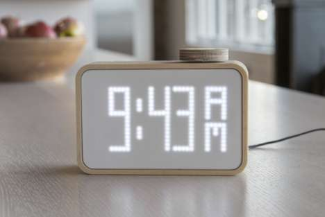 Pizza Delivery Timepieces - The PizzaTime Smart Clock By Artefact Shows You When Your Pie is Coming