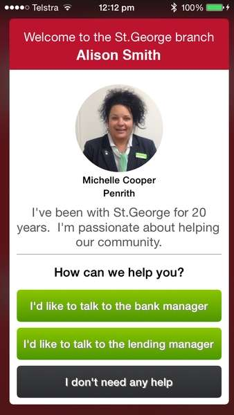 Personalized Bank Beacons - St. George Bank Greets Customers Through Smartphones and Tablets