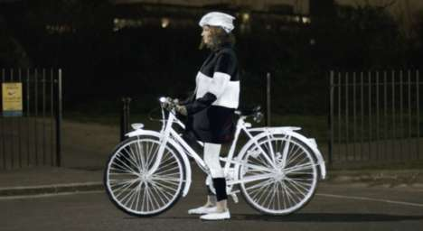 Reflective Bike Paint - Volvo LifePaint Temporarily Illuminates Bicycles in the Dark of Night