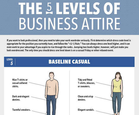 Work Wardrobe Guides - This Infographic Offers Advice for Dressing for Work in Different Offices