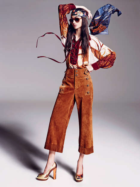 Chic Flower Child Photography - Elle UK's That 70s Show Editorial is a Throwback to Another Decade