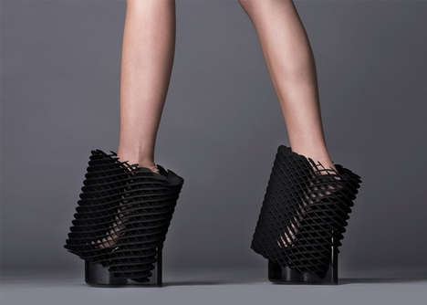 Architectural Shoe Exhibits - Milan Design Week's 'Re-Inventing Shoes' Series is Sculptural