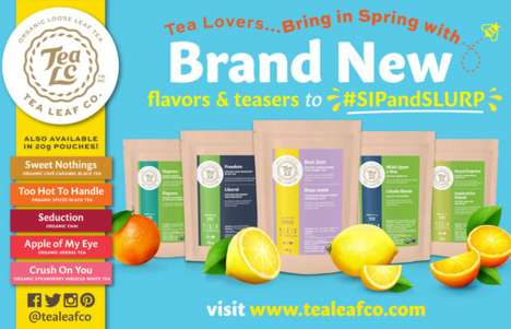 Seasonal Tea Blends - Tea Leaf Co Introduces Five Fresh Spring Flavors for the Health-Conscious