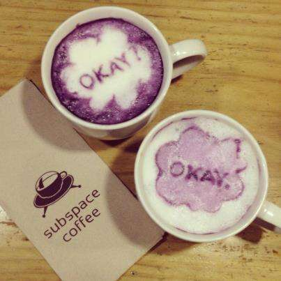 Purple Potato Lattes - Subspace Coffee Specializes in Making Colorful Taro Lattes