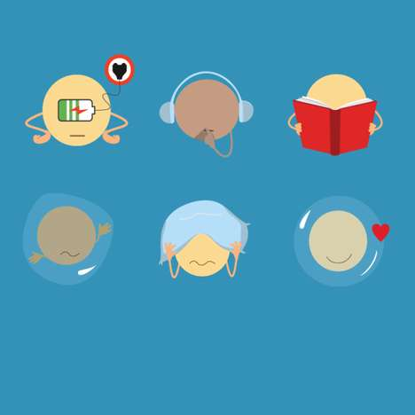 Introvert Emoji Apps - Intojis Share Complex Emotions Through Illustrated Icons
