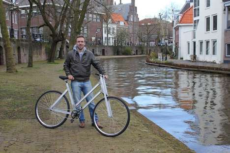 Low-Cost Assembly Bicycles - The Reframed Bike Has To Be Assembled By its User
