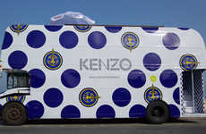 Mobile Bus Boutiques - The Kenzo Fashion Bus Offers Designer Style On the Go
