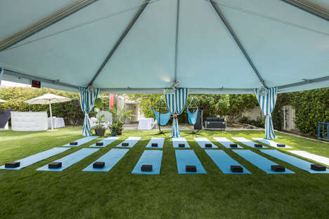 Rejuvenating Festival Cabanas - Hawiian Tropic's Outdoor Cabana Offers Refreshment at Coachella