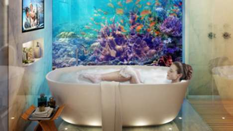 Submerged Luxury Homes - Dubai's Floating Seahorse Homes Offer Views of Underwater Marine Life