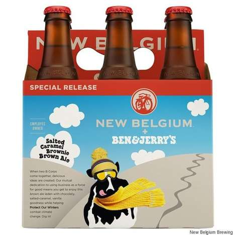 Brownie Dessert Beer - Ben & Jerry's New Belgium Brewing Beer Satisfies a Sweet Tooth and Thirst