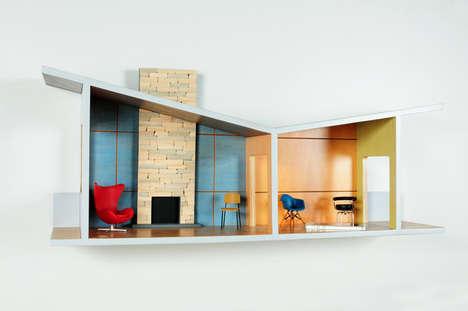 Playful Dollhouse Shelving - Straight Line Designs Introduces a Range of Unique Shelves