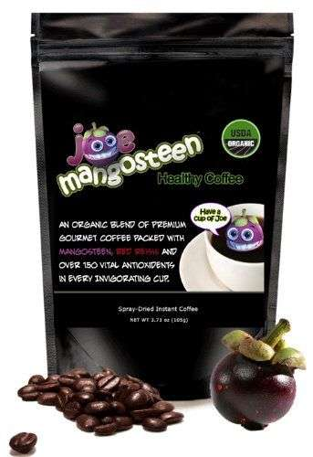 Mangosteen Coffee Beans - Joe Mangosteen's Healthy Coffee is Made with Exotic Fruit and Fungi