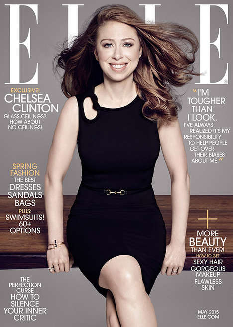 Presidential Offspring Covers - This Chelsea Clinton Elle Cover is Elegant and Understated