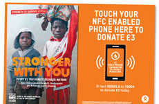 Touchless Donation Posters - Oxfam's Contactless Donation Stations Support NFC-Enabled Devices