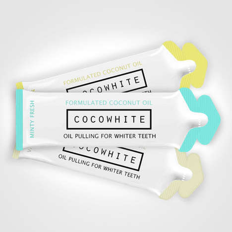 Oil Pulling Packets - Cocowhite's Coconut Oil Pulling Packs Bring Flavor to Oral Hygiene