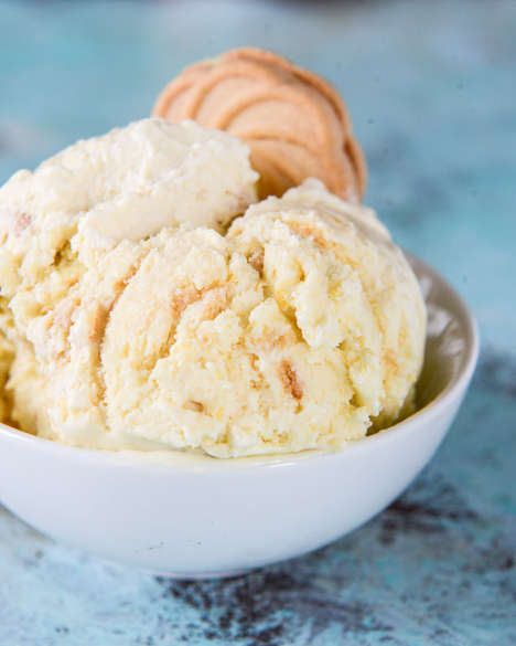 Frozen Cookie Desserts - The Lemon Cookies and Cream Gelato is a New All-Time Summer Classic