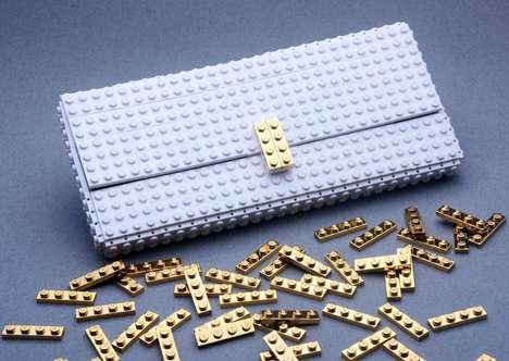 Luxe LEGO Clutches - These Toy Brick Bags Are Handmade and Sophisticated