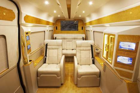 Custom Luxury Minibuses - Lexani Motorcars Turns a Mercedes Sprinter Van into a Gold-Plated Ride