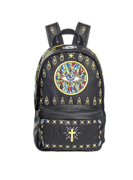 Religious Rocker Backpacks - UNIF's Faux Leather Bag is Inspired by Christian Church Windows