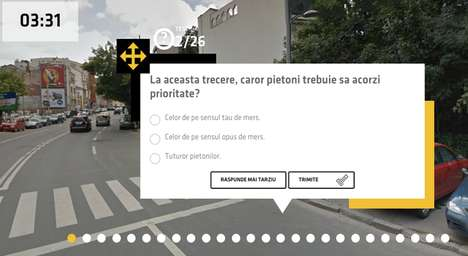 Interactive Driving Practice Tests - Romania's Street View Test Uses Google to Teach New Drivers
