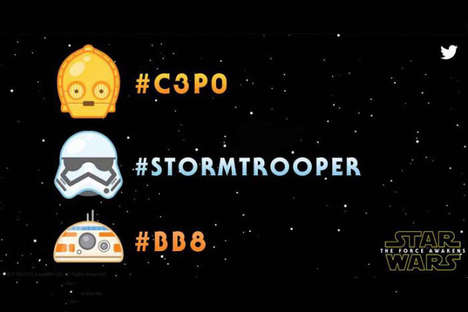 Sci-Fi Fandom Emojis - Twitter Has Released Star Wars Emojis to Coincide with the Film's Trailer