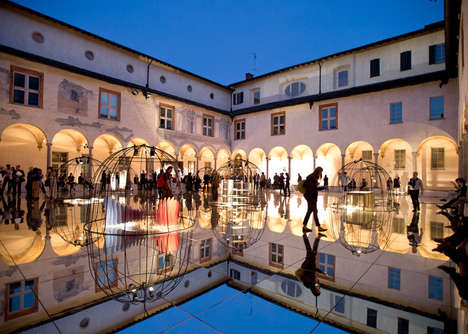 Temporary Mirrored Courtyards - This Year's Mindcraft Exhibition Features an Epic Courtyard Floor