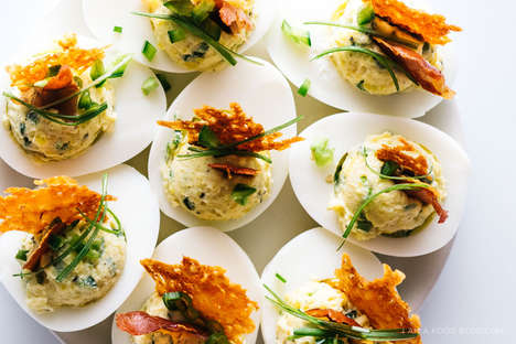 Jalapeno Protein Snacks - This Spicy Deviled Eggs Recipe Features Mexican-Themed Toppings