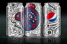 Graffiti-Adorned Pop Cans - The Latest #PepsiChallenge Boasts Branding by Nicola Formichetti
