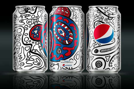 Graffiti-Adorned Pop Cans - The Latest #PepsiChallenge Boasts Branding by Nicola Formichetti