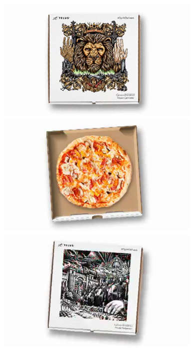 Fantasy Pizza Boxes - Telus Appeals to Game of Thrones Fans with a Promotional Pizza Delivery