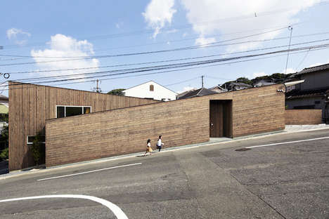Sloped Japanese Homes - Roote's Inclined Family Residence Boasts Angular Design Details