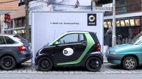 Pop-Up Car Billboards - These Smart Advertisements Appear Wherever a Compact Vehicle is Parked