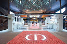 Immersive Fragrance Marketing - Dior's Pink Garden in Doha Airport Celebrates a New Perfume Launch
