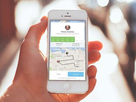 Co-Worker Carpooling Apps - The Ride App Aims to Increase Ease of Commuting and Carpooling