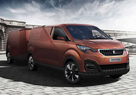 Mobile Eatery Concepts - The Peugeot Food Truck Converts into a Pop-Up Restaurant
