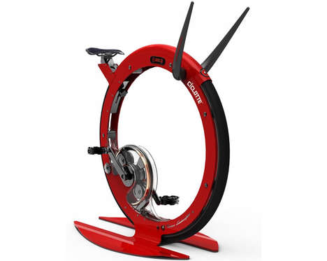 Luxe Circular Cycles - The Tonino Lamborghini Ciclotte Transforms Exercise Cycling with Style