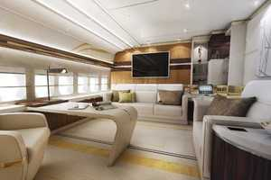 The World's First Private 747-8 Jet Boasts an Opulent Interior
