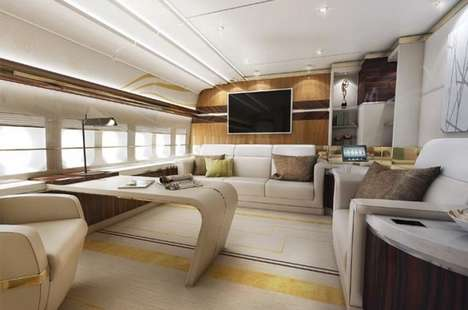 Palatial Converted Jetliners - The World's First Private 747-8 Jet Boasts an Opulent Interior