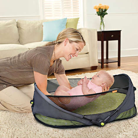 Collapsible Baby Bassinets - The Brica Fold 'n Go Travel Crib is Lightweight and Comfortable