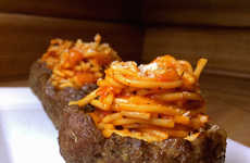 Spaghetti Meat Bowls - This Trashy Spin on a Classic Dish Reinterprets an Old Recipe in a New Way