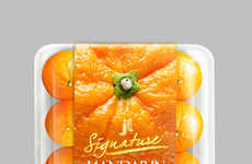 Citrusy Produce Packaging - This Produce Packaging Design Mimicks an Orange Peel
